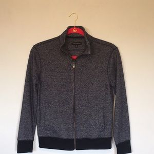 Banana Republic Birdseye Zip up Cardigan Sweater